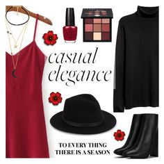 """Casual Elegance"" by dora04 ❤ liked on Polyvore featuring Huda Beauty, Nasty Gal, Saks Fifth Avenue, WithChic and Wild Rose"