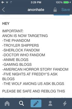 I found that Supernatural isn't the only fandom being targeted. Repin this to your most popular board to warn others. Stay safe all fandoms. We have your back!< THEY ARE MESSING WITH THE WRONG PEOPLE.