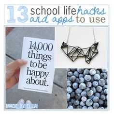 """13 school life hacks + apps to use"" by girlythings-xo ❤ liked on Polyvore featuring art and ellastipsies"