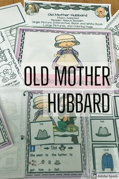 Old Mother Hubbard Circle Time Nursery Rhyme Interactive book This poem is a great one for Circle Time or to set up in a Reading Center. This has been differentiated so that a variety of students are able to use it. Perfect for preschool, kindergarten, first grade, and special education as a circle time read aloud, reading center activity, writing center.