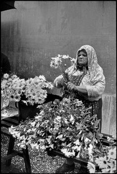 Henri Cartier-Bresson -  Slovenia. Ljubljana. 1965. Market.