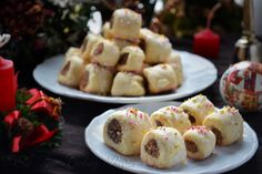 Cuccidati is a traditional Sicilian fig cookie usually served at Christmas time. Old Italian Recipes, Italian Desserts, Italian Foods, Pillow Cookies Recipe, Italian Fig Cookies, Candied Almonds, Cookies Ingredients, Stick Of Butter, Cookie Recipes