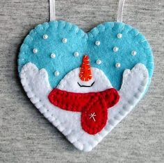 Christmas snowman tree ornaments felt snowman home by feltgofen