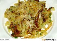 Pečené strouhané brambory se sýrovou čepicí Potato Dishes, Potato Recipes, Vegetable Recipes, Vegetarian Recipes, Slovak Recipes, Czech Recipes, Ethnic Recipes, Top Recipes, Pasta Recipes