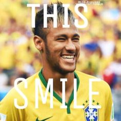 There are a billion smiles in the world but. Yours will be always my favourite Neymar Jr, Neymar Memes, Neymar Brazil, Tennis Grips, Tennis Trainer, Tennis Accessories, Love You Babe, Boyfriend Pictures, Perfect Smile