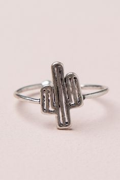 Brandy ♥ Melville | Silver Cactus Open Ring - Jewelry - Accessories