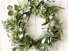 This stunning Farmhouse Wreath was created with love using top quality faux Lambs Ear, Olive Branch Leaves, and Eucalyptus Leaves. It's perfect for Wedding and Everyday Decor!