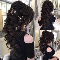 Coiffure De Mariage : Long Wedding Hairstyles from Elstile / www.himisspuff.co......