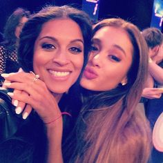 Ariana Grande and Lilly Singh