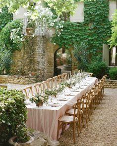 Long and Elegant Garden Reception Table