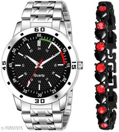 Watches K23 & J16 Pack of 2 Attractive Unique Dial With Unique And Exclusive New Analog Watches For Men & Women Bracelet Strap Material: Stainless Steel Display Type: Analogue Size: Free Size Multipack: 2 Country of Origin: India Sizes Available: Free Size   Catalog Rating: ★4.3 (305)  Catalog Name: Classy Men Watches CatalogID_1941497 C65-SC1232 Code: 082-10601915-606