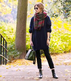 Accessories must haves for the season.   Scarf!   Christine R. of Fash n Chips  Wearing  Over Size Blanket Scarf