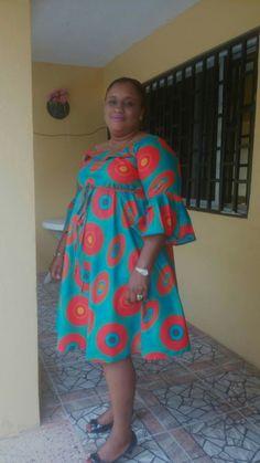 Casual Ankara dress African Dress Patterns, Best African Dresses, Latest African Fashion Dresses, African Print Dresses, African Print Fashion, African Attire, African Wear, New Dress Pattern, African Fashion Traditional