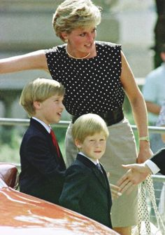Diana at the Cirque Du Soleil with William and Harry