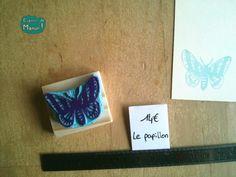 tampon papillon-bleu - Espèce de Manue !