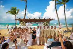 Beach wedding at Excellence Punta Cana! #DestinationWedding #DominicanRepublic