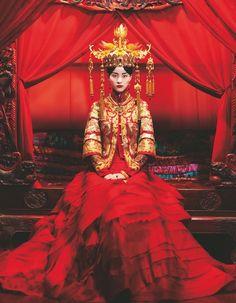 Chinese brides ~~ For more:  - ✯ http://www.pinterest.com/PinFantasy/moda-~-elegancia-oriental-oriental-elegance/
