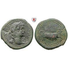 Römische Provinzialprägungen, Kilikien, Aigeai, Caracalla, Bronze 198-217, s-ss: Kilikien, Aigeai. Bronze 31 mm 198-217. Kopf r. mit… #coins