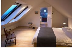 'The Shed' at Tokavaig, The Isle of Skye. Master bedroom.