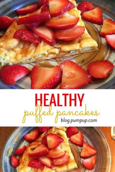 Healthy puffed pancakes // Breakfast recipes from the PumpUp Blog
