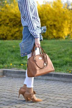 Suede shoes white denim, denim jacket