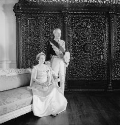 The Governor of Bombay, Sir John Colville, with Lady Colville, in formal dress by Cecil Beaton