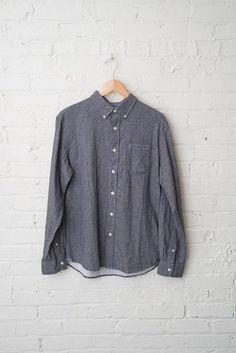 Chambray Double Cloth Button Down