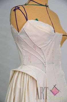 Mr-Hesham Helal                                                                                                                                                      Más Pattern Draping, Corset Pattern, Fashion Sewing, Diy Fashion, Fashion Outfits, Couture Details, Fashion Details, Clothing Patterns, Dress Patterns