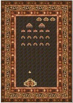 Galaxy Invaders rug