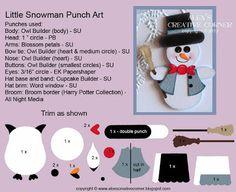 Frosty Little Snowman punch art - bjl