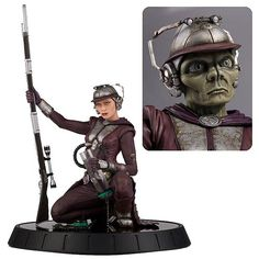 BLOG DOS BRINQUEDOS: Star Wars Zam Wesell 1:6 Scale Statue