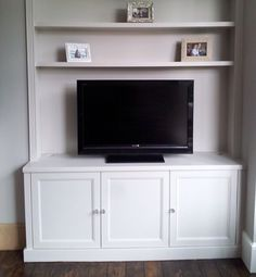 Handmade white painted Victorian style alcove unit. www.vertexcarpentry.co.uk