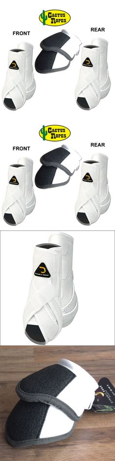 Horse Boots 85260: Large Cactus Dynamic Edge Horse Front Leg Sport Bell Boots 6 Pack Combo White BUY IT NOW ONLY: $189.99