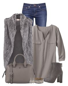 """Faux fur vest"" by jennsprettylittlefriend ❤ liked on Polyvore featuring Tory Burch, TravelSmith, DKNY, Prada, Calleen Cordero and Silver Forest"