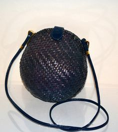 Rodo Round Woven Purse $55 - QuirkyFinds.com