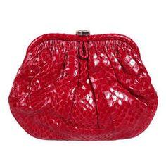 Vintage Chanel Red Python Clutch