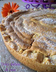 Crostata con crema,ricotta e confettura,ricoperta di savoiardo | Dolci Delizie di Casa