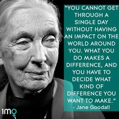 Quote from activist, author and anthropologist Jane Goodall