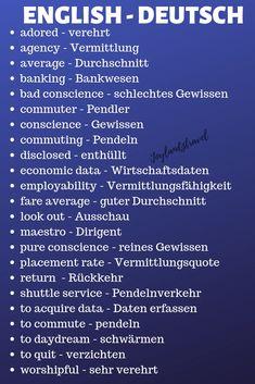 words to remember english and deutsch learn german adored – verehrt agency #deutschlernen #germanlanguage #deutsch #lernen #german #english #wortschatz #vokabeln #vocabularies #learngerman #language #sprache #englisch #germanwords #wortschatz