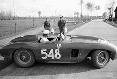 Eugenio Castellotti, #548 Ferrari 290 MM (Scuderia Ferrari), Mille Miglia 1956…