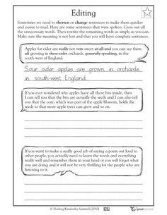 5 great writing worksheets: grade 3 - Editing | GreatSchools