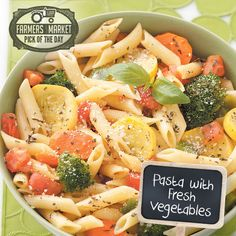 Pasta with Fresh Vegetables Recipe from Taste of Home