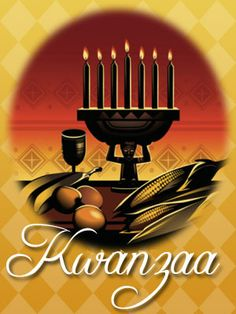 kwanzaa While not a religious holiday, its ceremony and foundation in cultural affirmation and celebration of values seem to fit well into my religious literacy category. Winter Holidays, Holidays And Events, Happy Holidays, Happy Kwanzaa, Kwanzaa 2016, Holiday Messages, Winter Solstice, Favorite Holiday, Holiday Fun
