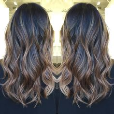light+brown+balayage+for+black+hair