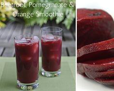 Beetroot, Pomegranate And Orange Smoothie...