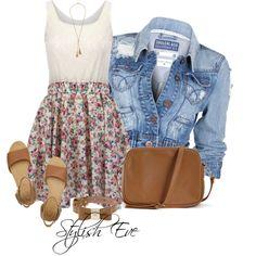 my bff would love this Cute Teen Outfits, Cute Summer Outfits, Outfits For Teens, Spring Outfits, Casual Outfits, Girl Outfits, Fashion Outfits, Cute Fashion, Teen Fashion