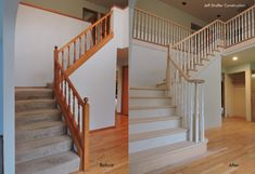 Staircase Remodel, Staircase Railings, Stairs, Farmhouse Fireplace Mantels, Stair Renovation, Google Search, Architects, Home Decor, Image