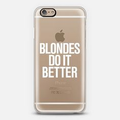 #blondesdoitbetter #blondes Transparent iPhone 6 Case @Casetify