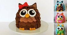 Podrobný návod na dort ve tvaru sovičky | Čarujeme