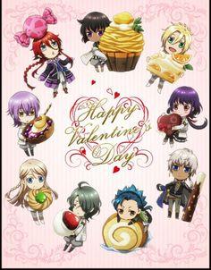 Kamigami no Asobi ~~ Chibi sweeties for Valentines Day :: Anubis, Apollon, Yui, Thoth, Takeru, Hades, Balder, Tsukito and Loki